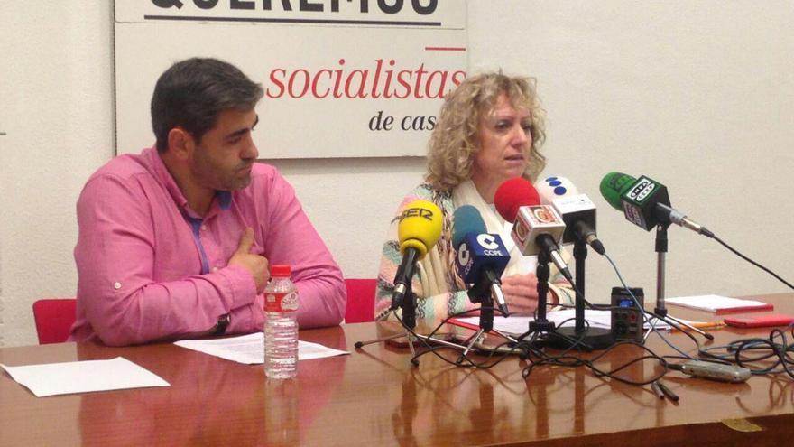 Pablo Antuñano y Eva Díaz Tezanos en rueda de prensa.