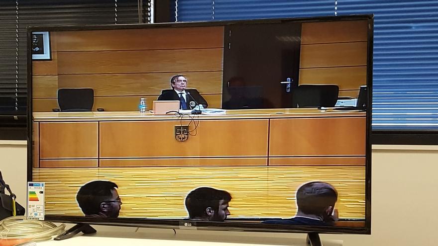 Imagen del momento de la lectura de la sentencia.