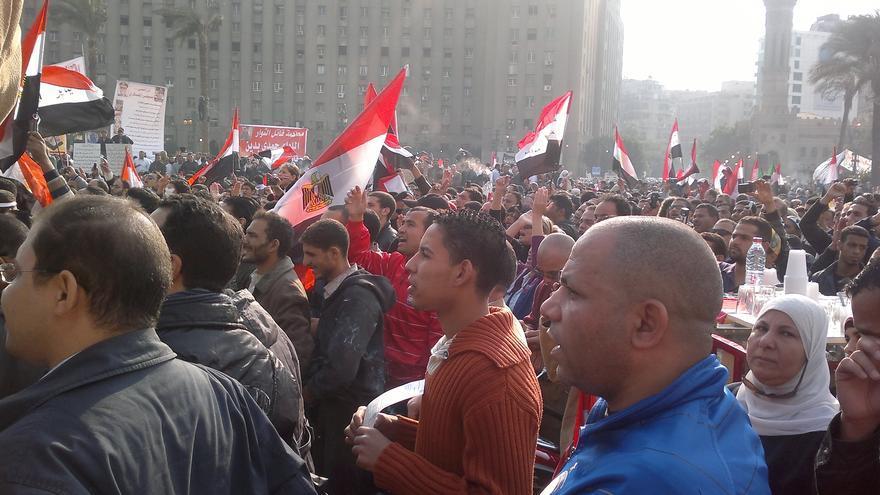 Una de tantas protestas que se han celebrado en Tahrir en estos 2 últimos años, tras el estallido de las revueltas  (Olga R.)