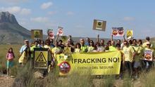 Oposición al fracking 'desde' la bicicleta en Albacete