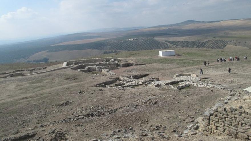 Yacimiento arqueológico de Ategua, en la barriada cordobesa de Santa Cruz (Foto. Asoc. Cultural Amigos de Ategua)