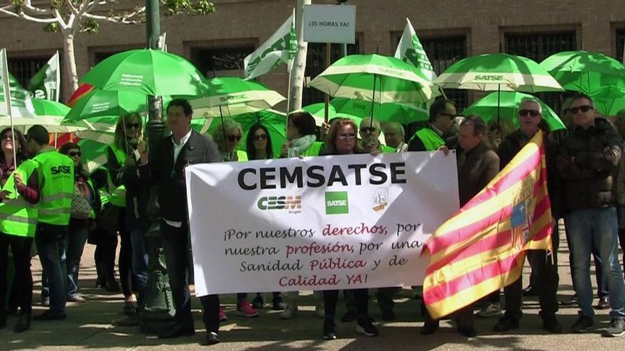 Cemsatse ha convocado varias concentraciones en las tres provincias aragonesas