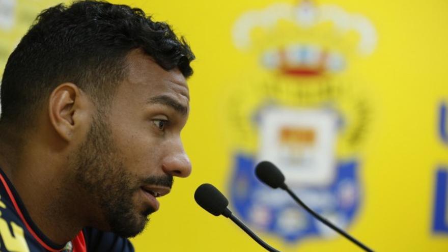 El centrocampista argentino de la UD Las Palmas, Míchel Macedo