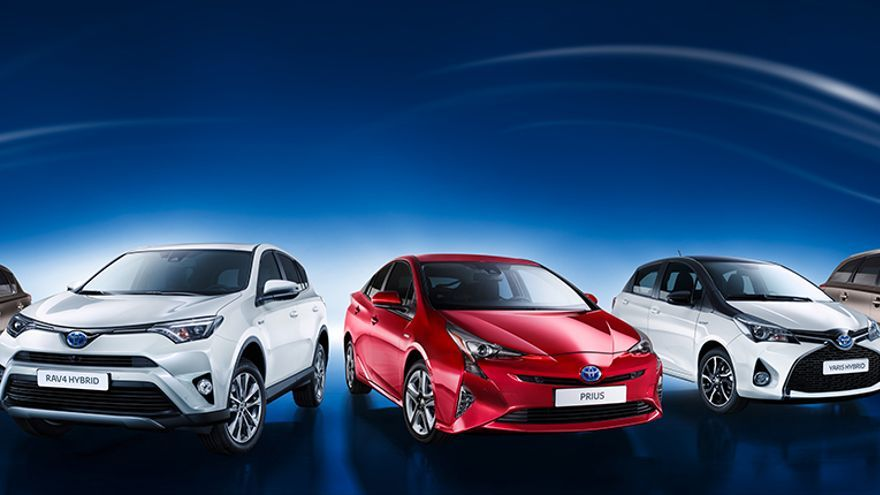 Gama híbrida de Toyota.