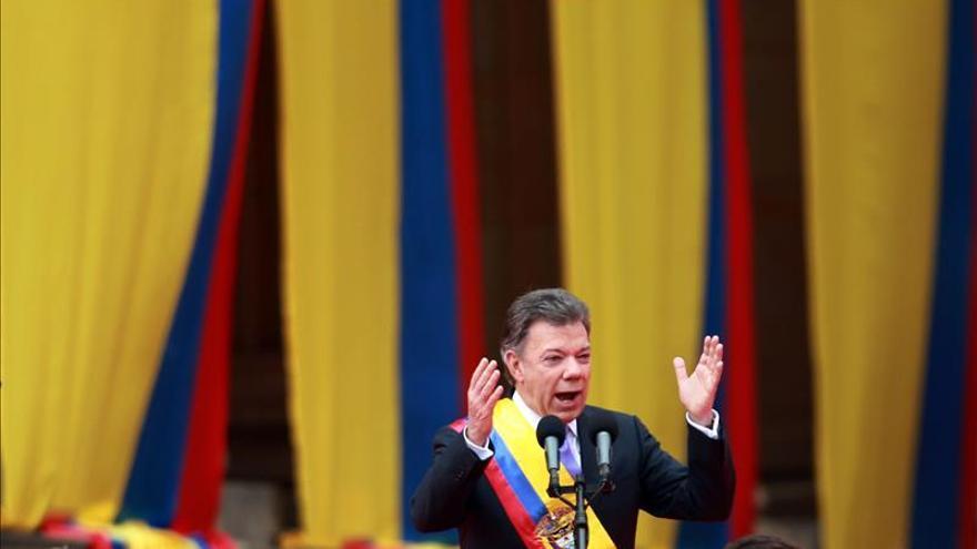 Santos cumple cien días de su segundo Gobierno con una imagen favorable del 40 por ciento