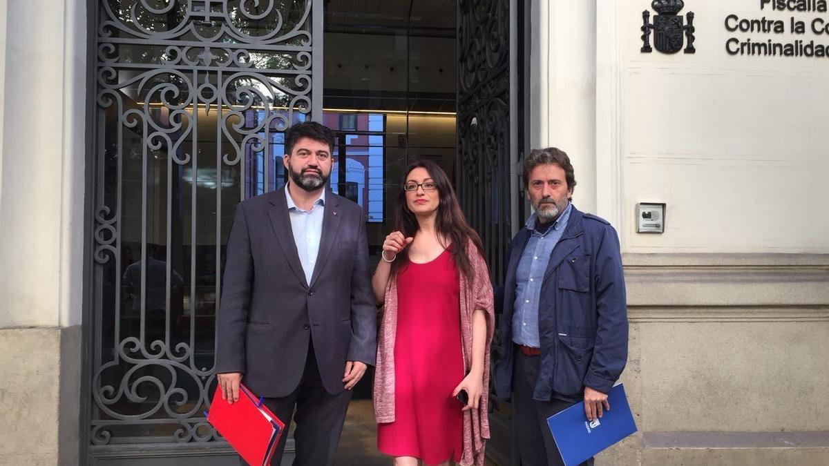 Carlos Sánchez Mato, Sol Sánchez y Mauricio Valiente, en una imagen de archivo.