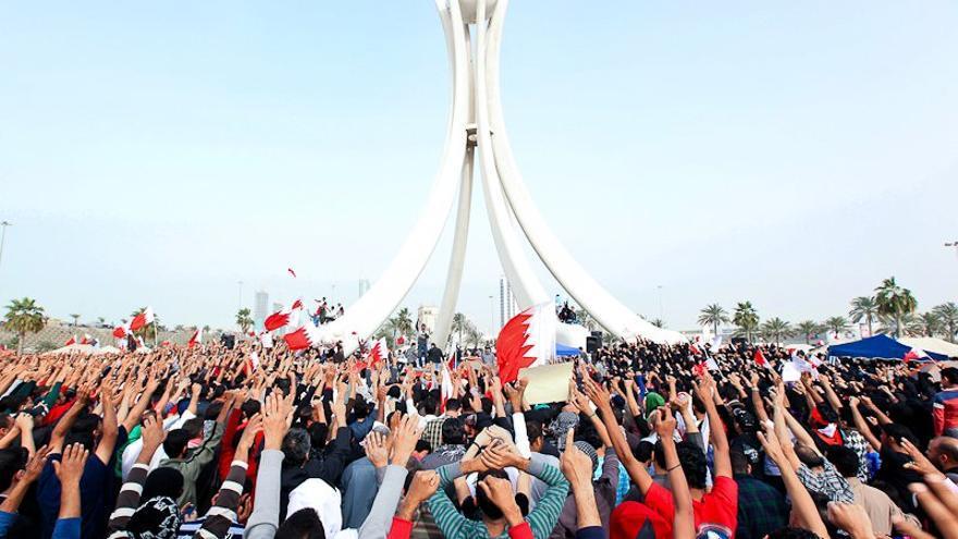 Protestas en la Plaza de la Perla, en Bahréin, en 2011. / CC BY-SA 3.0.