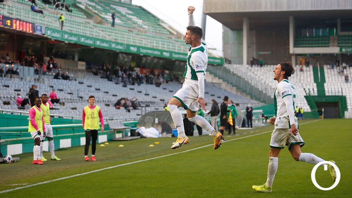 Willy celebra un gol ante el Murcia.