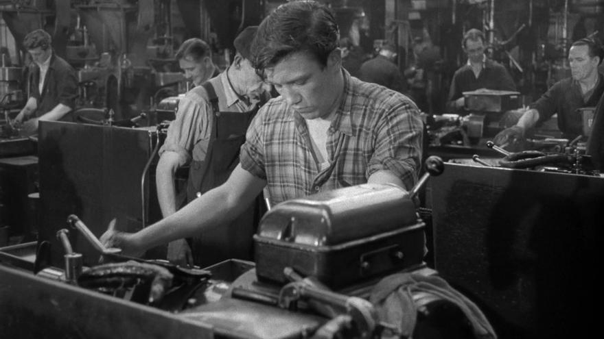 Fotograma de la película británica 'Sábado noche, domingo mañana' (1960) de Karel Reisz.