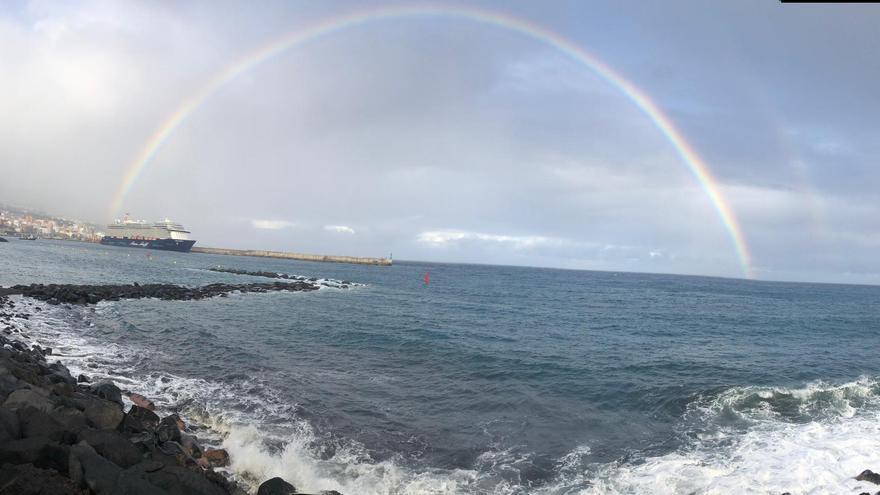 Arco Iris visto desde la playa de Bajamar de Breña Alta