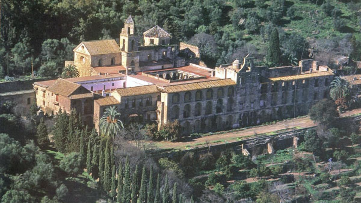 Imagen aérea del monasterio de San Jerónimo, en el corazón de Sierra Morena.