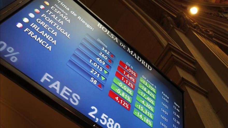 La prima de riesgo de España abre a la baja y cae a 351 puntos básicos