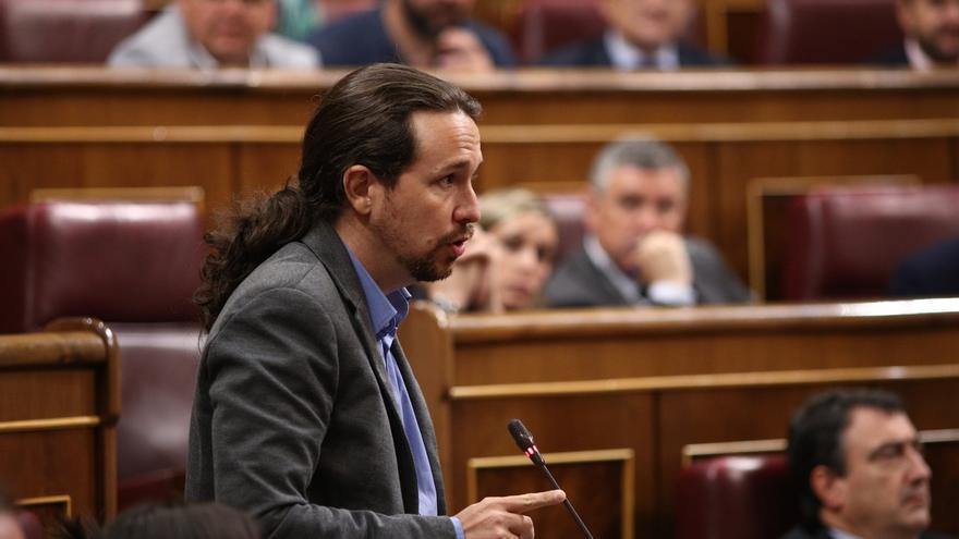 """Iglesias defiende su moción y acusa al PP de """"intimidar"""" y """"comprar"""" a otras fuerzas: """"Nosotros le vamos a hacer frente"""""""