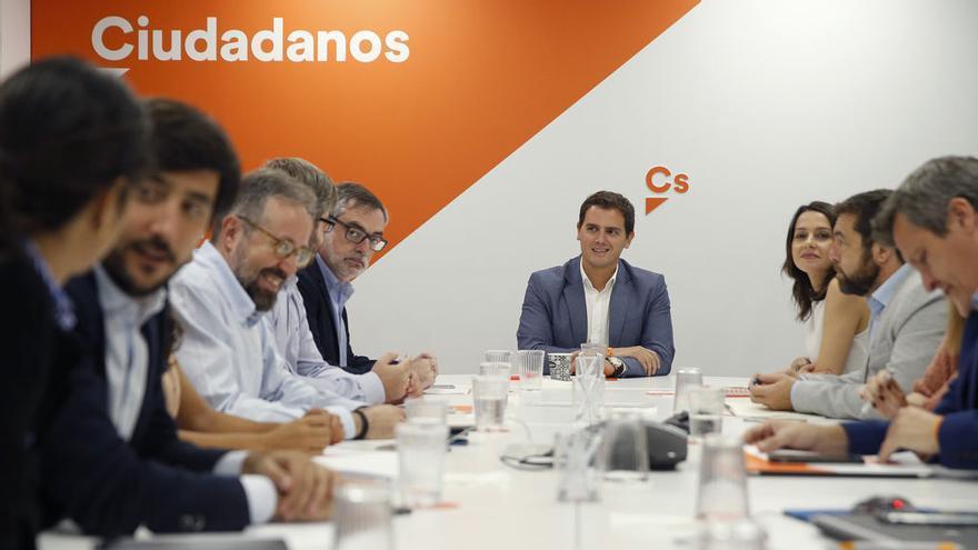 Albert Rivera y la dirección de Ciudadanos.