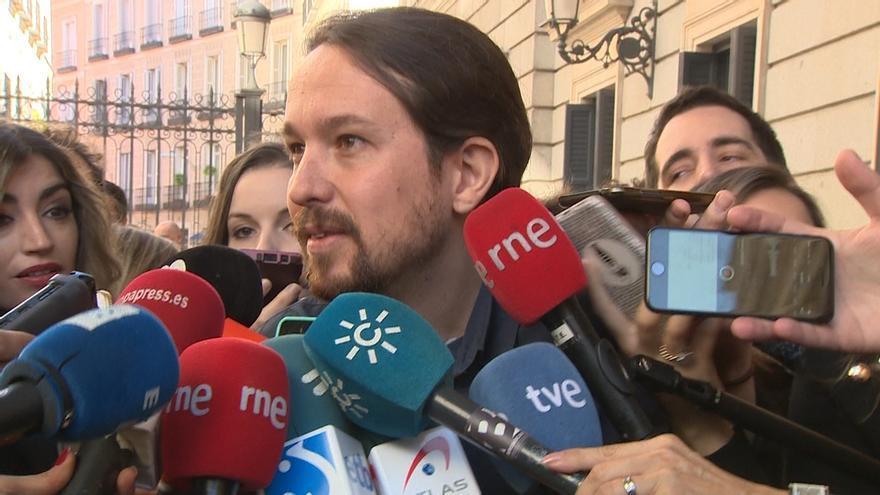 """Pablo Iglesias percibe """"carencias"""" en el discurso de Felipe VI porque refleja un """"tiempo que ya pasó en España"""""""