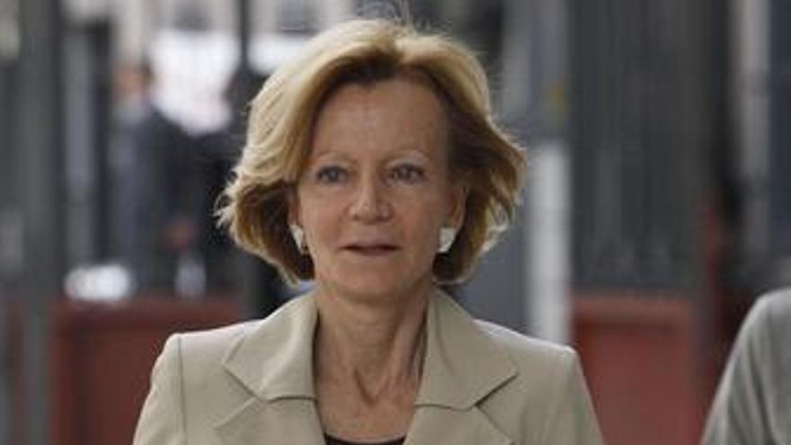 Ministra de Economía y Hacienda, Elena Salgado