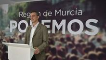 El secretario general y portavoz parlamentario de Podemos Región de Murcia, Óscar Urralburu