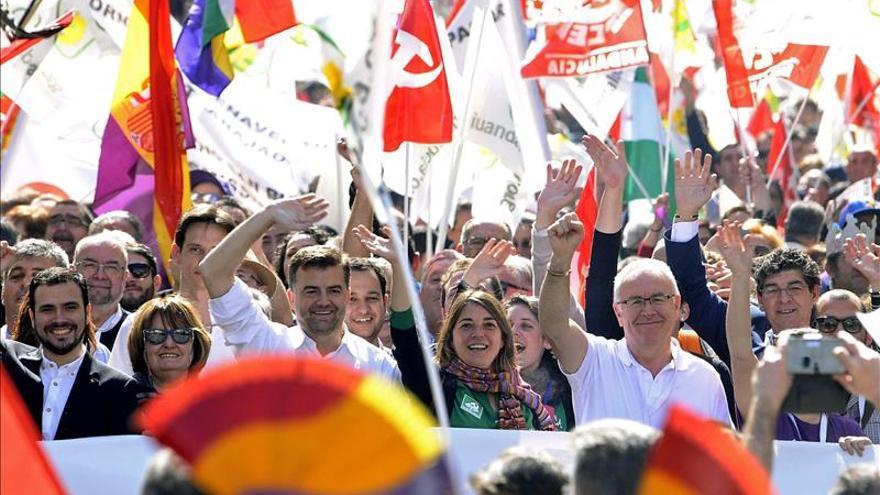 IU reivindica en una manifestación que la izquierda es el futuro de Andalucía