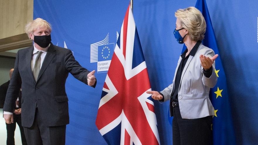 Boris Johnson y Ursula von der Leyen, el 9 de diciembre en Bruselas.