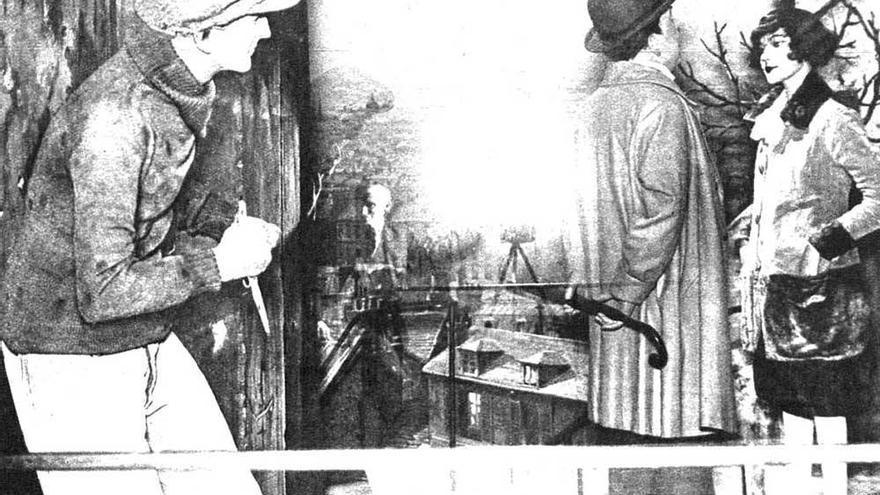 Apache instantes antes de atacar a una pareja (1932) - Mundo Gráfico