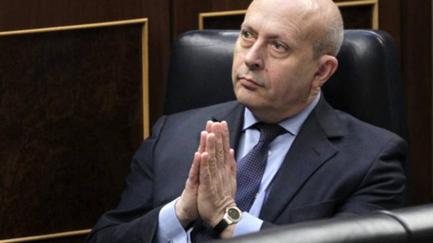 El ex ministro de Educación, José Ignacio Wert.