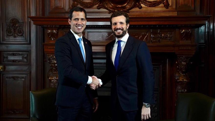 Pablo Casado se reúne en Madrid con Juan Guaidó