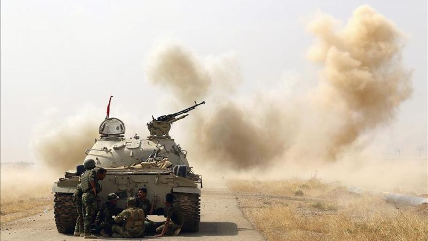 Fuerzas kurdas repelen un nuevo ataque de yihadistas en los alrededores de Mosul (Irak)