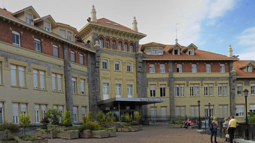 Aspecto exterior del Hospital San Juan de Dios, en Santurtzi
