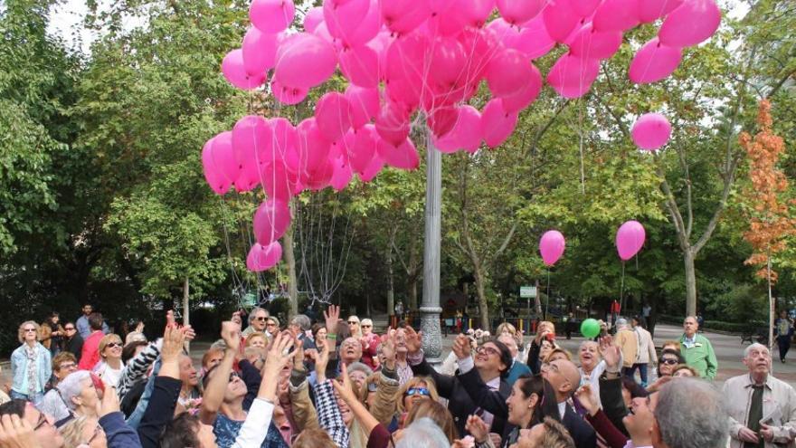 Día Mundial Contra el Cáncer de Mama organizado por la Asociación Española Contra el Cáncer / Junta