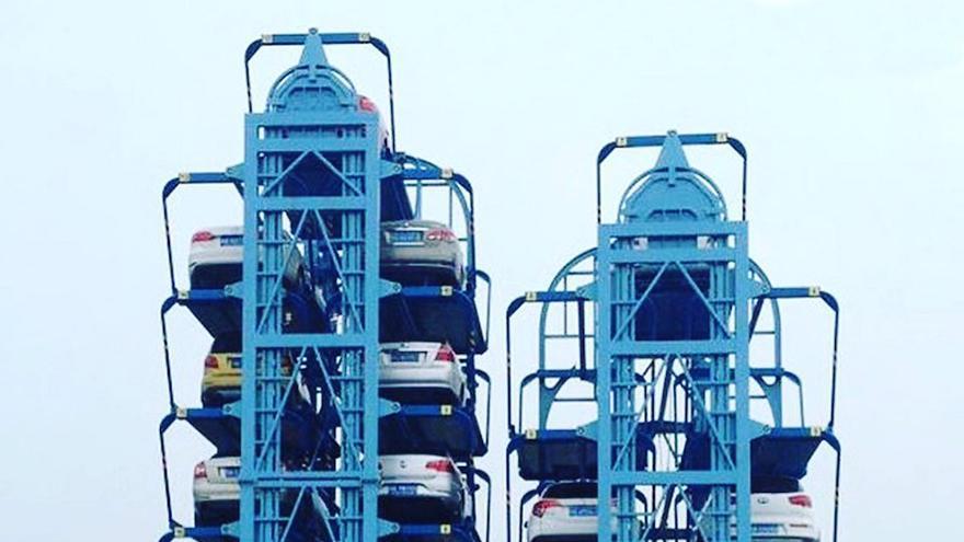 Imagen que recrea un sistema para el estacionamiento de vehículos