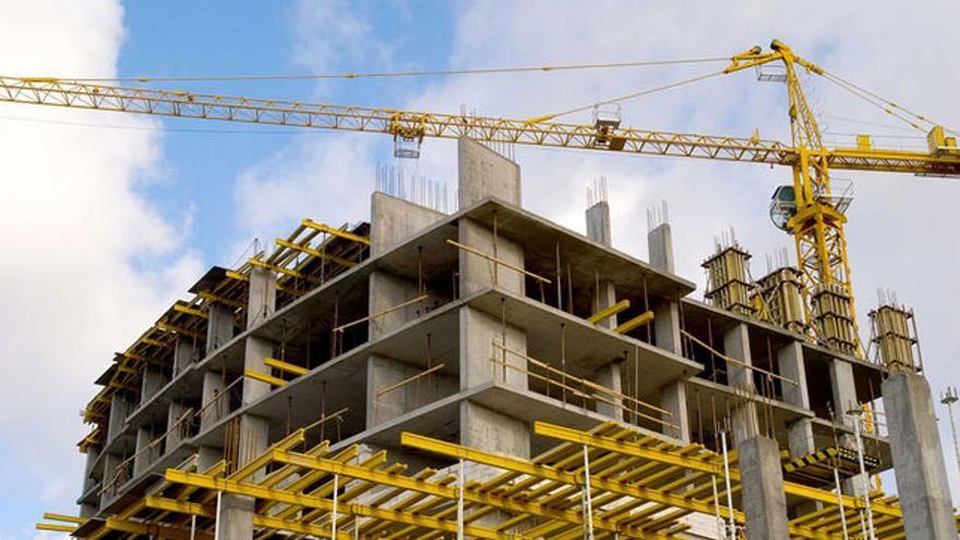 Edificio en construcción, en una imagen de archivo