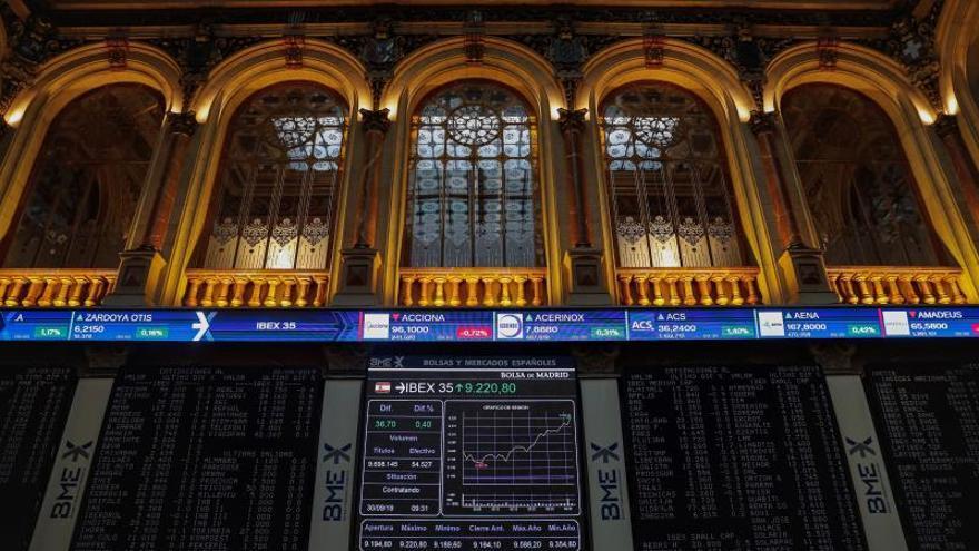 En la imagen, la Bolsa de Madrid durante la sesión del pasado lunes.