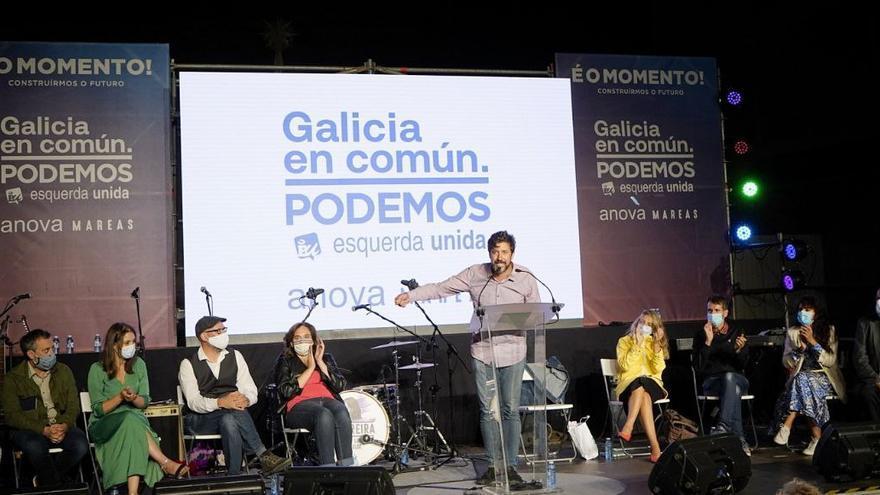 Mitin de final de campaña de Galicia en Común.