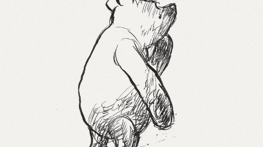 Drawing Lines The Hundreds : Una ilustración de winnie the pooh subastada en londres