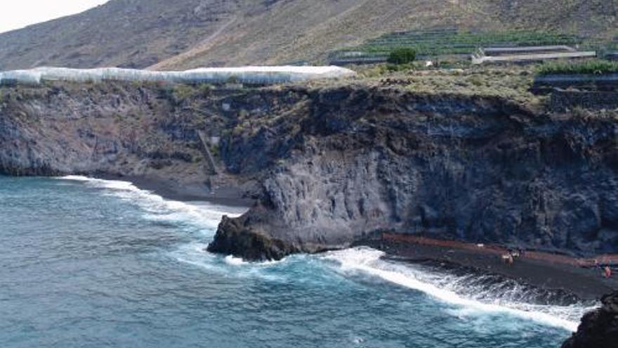 Playa de La Zamora en Fuencaliente.