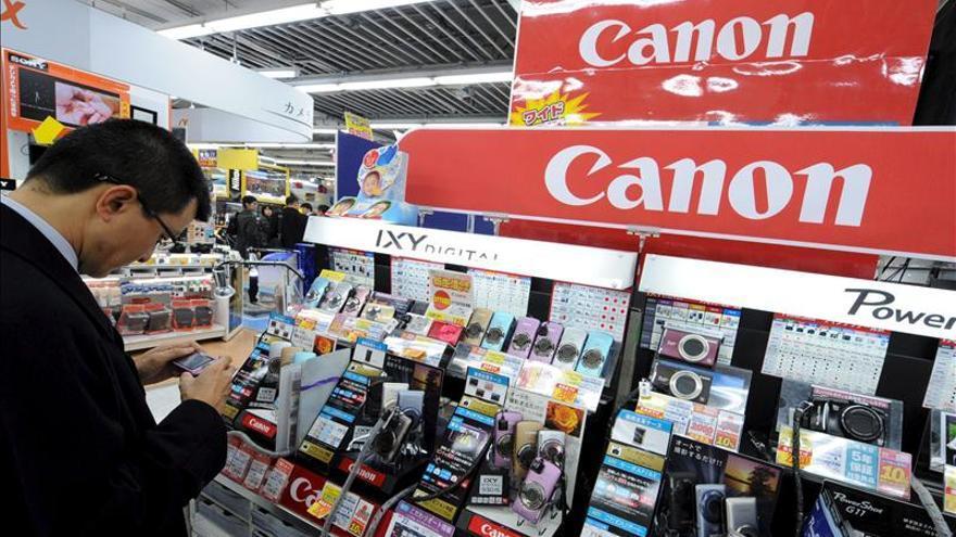 Canon recortó su beneficio en 2012 un 9,7 por ciento hasta 2.581 millones de dólares