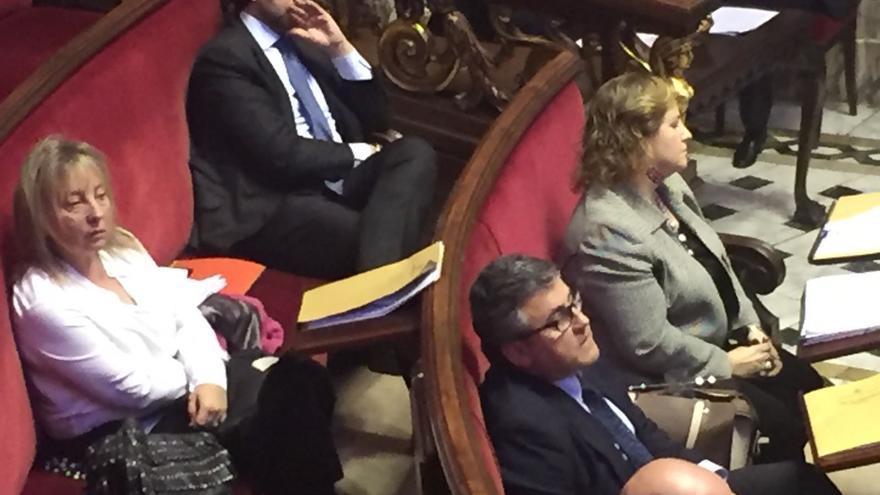 La nueva portavoz del PP en el Ayuntamiento, María Àngels Ramón-Llin, al fondo a la derecha