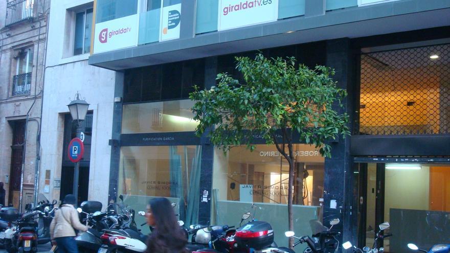 Instalaciones de la clausurada televisión municipal de Sevilla.