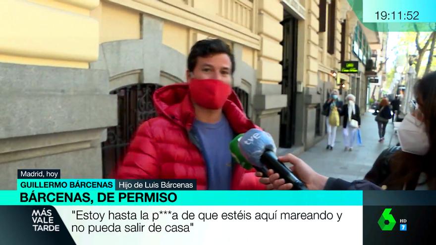 El enfado de Willy Bárcenas con laSexta y TVE por hacer guardia en su casa