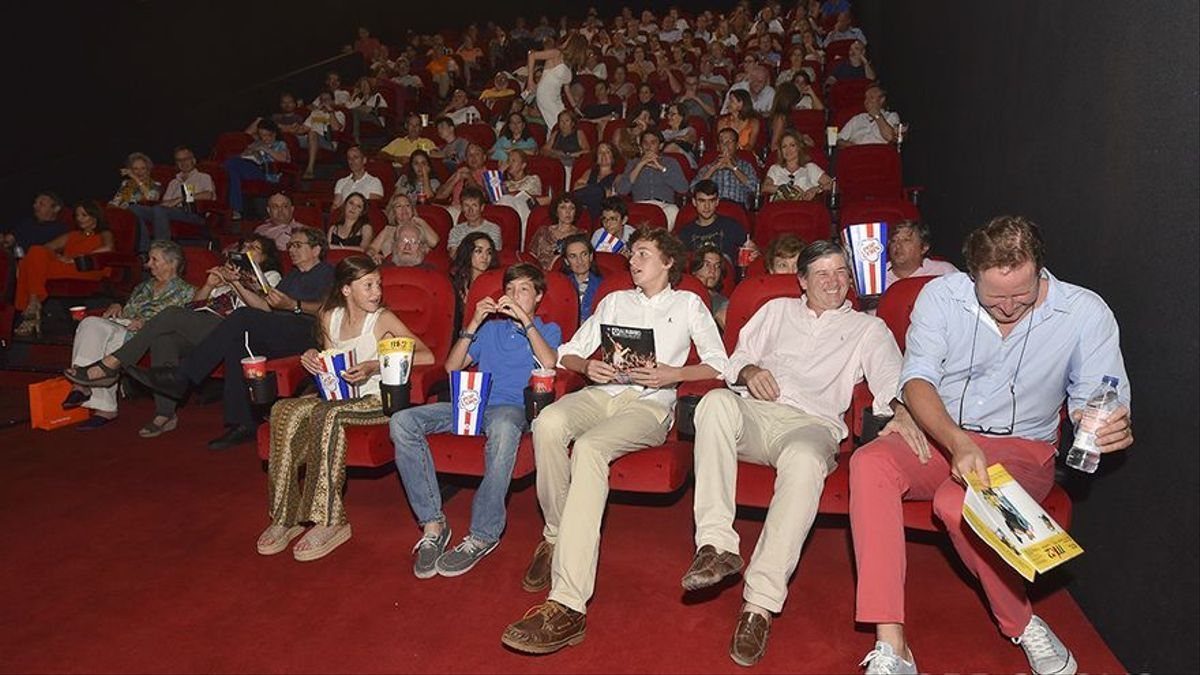 Imagen de archivo de una sala de cine