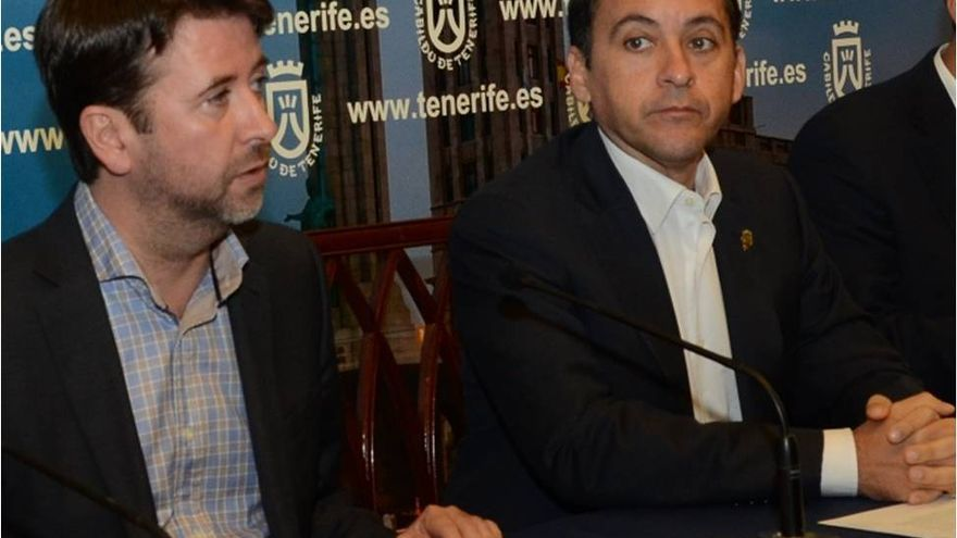 Carlos Alonso y José Manuel Bermúdez, en una rueda de prensa.