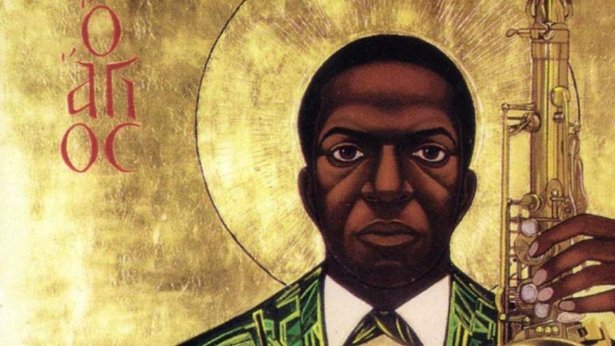Una de las imágenes que adornan la John Coltrane Church en San Francisco.