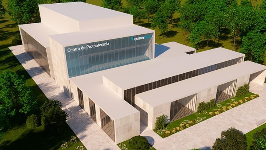 Maqueta del centro de protonterapia de Pozuelo de Alarcón, propiedad de Quirónsalud. / Quirónsalud