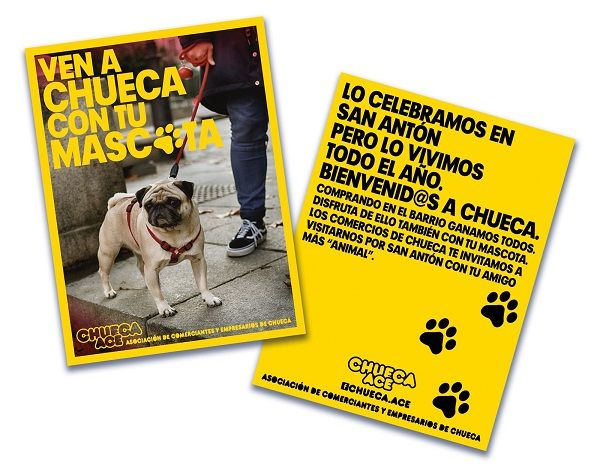 """Flyers campaña """"Ven a Chueca con tu mascota"""""""