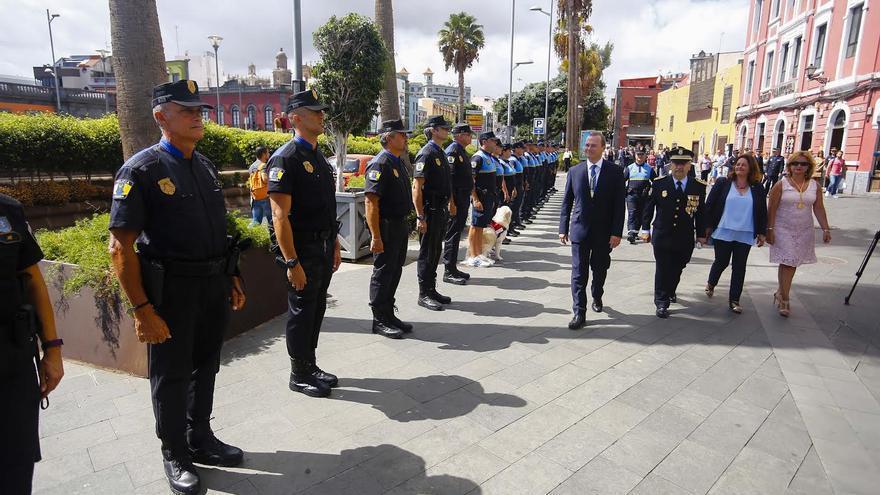 Acto principal de la celebración de la festividad del Cristo de la Vera Cruz, patrón de la Policía Local de Las Palmas de Gran Canaria.