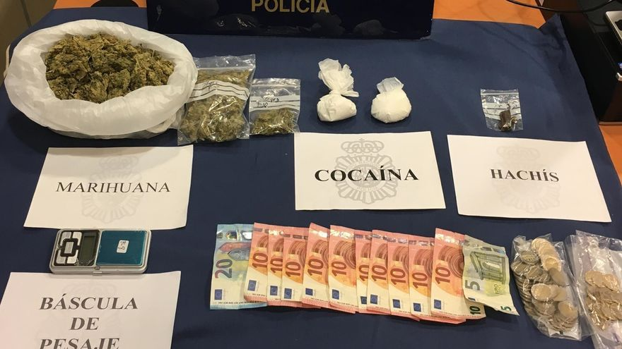 Detenidas dos personas en Burlada por tráfico de drogas