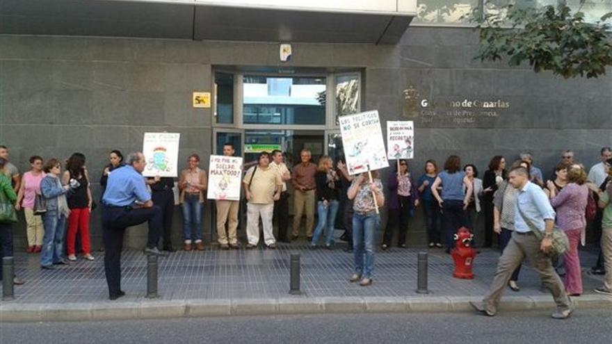 De protestas de funcionarios en LPGC #3