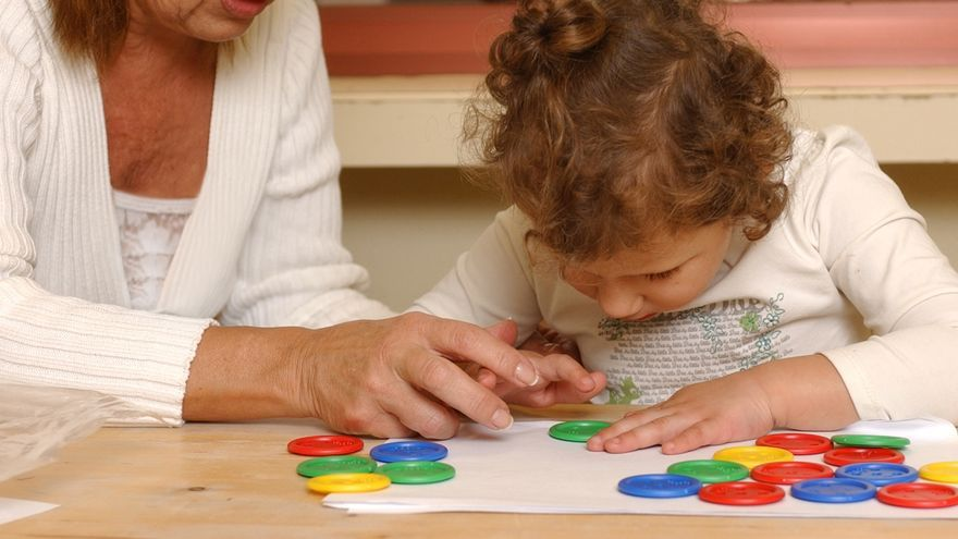 Educación con niños ciegos