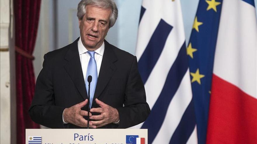 Tabaré Vázquez dice en París que el cambio climático y cáncer son los grandes retos científicos