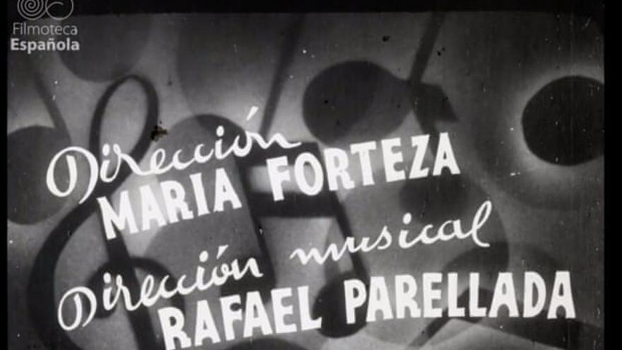 """Fotograma de los títulos de crédito de """"Mallorca"""" gracias al que se ha descubierto la verdadera autoría del cortometraje"""